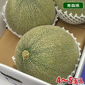 送料無料 青森県産メロン デリシーメロン 4〜5玉入り(1箱)|promart-jp