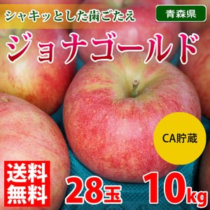 【送料無料】青森県産 りんご ジョナゴールド 28玉サイズ 10kg(CA貯蔵)|promart-jp