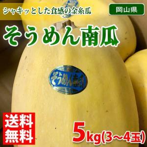 送料無料 岡山県産 そうめん南瓜 5kg(3〜4玉入) promart-jp