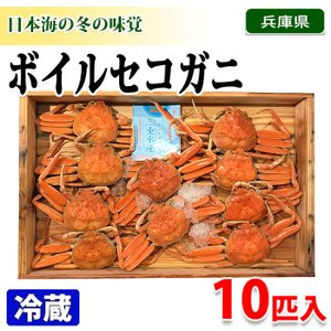 兵庫県産 ボイルセコガニ 10匹入り(箱)|promart-jp