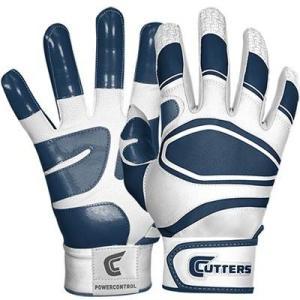 Cutters(カッターズ) パワーコントロール バッティング手袋(両手用) (NV) B440|pronakaspo