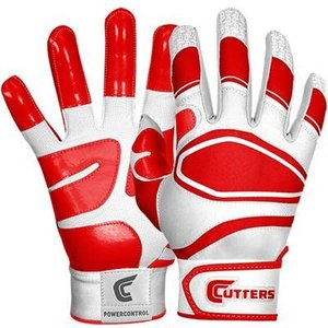 Cutters(カッターズ) パワーコントロール バッティング手袋(両手用) (RD) B440|pronakaspo