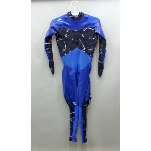 mizuno(ミズノ) スピードスケートワンピース (ブルー×ブラック) AC15SK-00270 pronakaspo