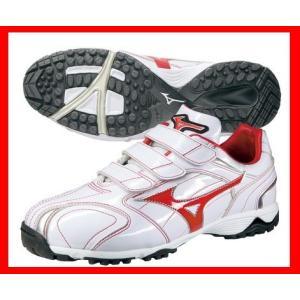 mizuno(ミズノ) トレーニングシューズ グレイストレーナー 2KT78462 ホワイト×レッド [野球 トレーニングシューズ] pronakaspo