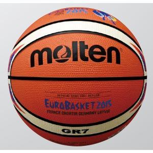 【ユーロバスケット2015 レプリカ】 【ゴム7号球】 molten(モルテン)  バスケットボール[ゴム7号]  BGR7-E5F|pronakaspo