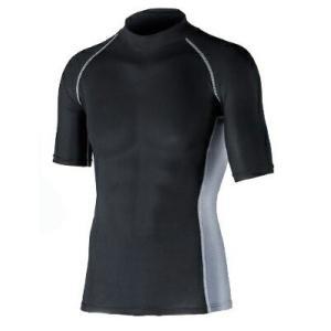 おたふく手袋 冷感・消臭パワーストレッチ 半袖ハイネックシャツ OF-JW624 BK|pronet-sports