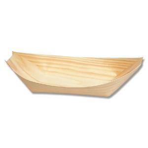 お取り寄せ 経木舟皿 舟形経木 業務用 使い捨て エゾ松舟皿 7寸 100枚|propack-kappa1