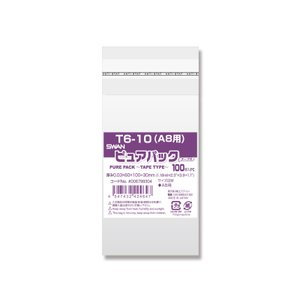 OPP袋 テープ付 A8 SWAN ピュアパック シモジマ T6-10 100枚|propack-kappa1
