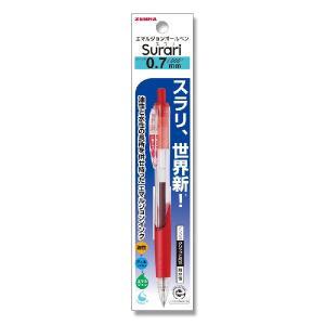 お取り寄せ ゼブラ エマルジョンボールペン P-BN11-R スラリ 0.7mm 赤 1本
