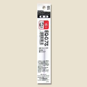 お取り寄せ ゼブラ エマルジョンボールペン 替芯 EQ-0.7芯 0.7mm 赤 REQ7-R 1本入