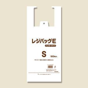 レジ袋 ビニール袋 手提げ 安い フックタイプ S レジバッグ Eタイプ 100枚|propack-kappa1