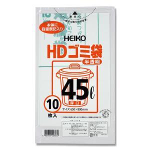 HDゴミ袋 半透明 厚口 45L 10枚|propack-kappa1