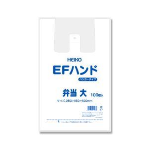 レジ袋 ビニール袋 手提げ EFハンド弁当用 大 HEIKO 100枚|propack-kappa1