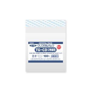 OPP袋 テープ付 HEIKO クリスタルパック 厚口 04TG-CD(2枚組)|propack-kappa1