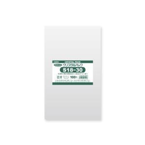 OPP袋 透明袋 テープなし HEIKO クリスタルパック S18-30 100枚