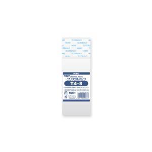 OPP袋 透明袋 テープ付 HEIKO クリスタルパック T4-8 100枚|propack-kappa1
