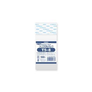 OPP袋 透明袋 テープ付 HEIKO クリスタルパック T5-8 100枚|propack-kappa1