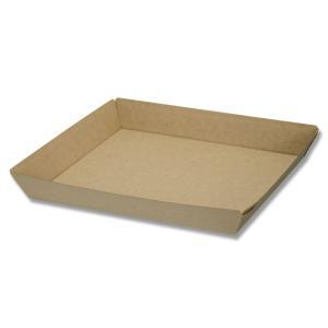 食品容器 紙トレー 業務用 使い捨て ネオクラフト トレー LL 50枚|propack-kappa1