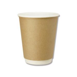 紙コップ 業務用 8オンス 二重断熱カップ HEIKO クラフト 25個|propack-kappa1