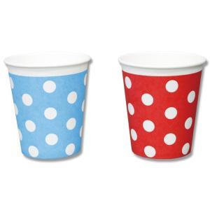 紙コップ 7オンス HEIKO ペーパーカップ ドット 100個 お取り寄せ|propack-kappa1