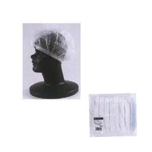 不織布ヘアキャップ 棒状 ホワイト 1袋(100枚)|propack-kappa1