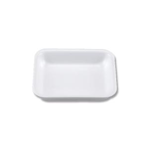 【お取り寄せ】業務用 発泡性 食品トレー V-25 使い捨て 無地 50枚