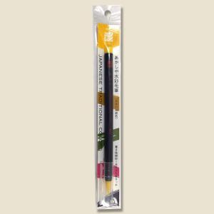 あかしや 水彩毛筆 彩 黄色 CA200-03 1本入