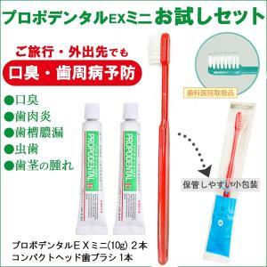 プロポリス 歯磨き粉 薬用ハミガキ プロポデンタルEX ミニ  10g  2本セット と コンパクト...