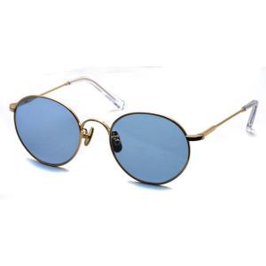 A.D.S.R. BONA06(b) ボナ Gold - Lt.Blue ゴールド-ライトブルーレンズ ラウンドメタル ボストン サングラス|props-tokyo