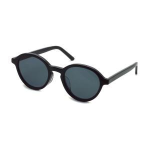 A.D.S.R. ERROL 01 エロル SHINY BLACK ブラック - ブラックレンズ ボストンラウンドサングラス|props-tokyo