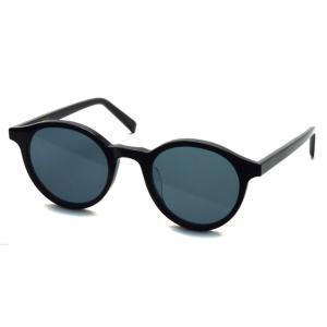 A.D.S.R. HOLIDAY 24 ホリデー SHINY BLACK ブラック - フラットブラックレンズ ボストンラウンドサングラス|props-tokyo