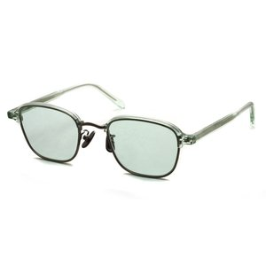 A.D.S.R. SWABY 05 スワビィ Clear Green / Antique Silver クリアグリーン/アンティークシルバー - ライトグリーンレンズ サーモントブロー スクエアサングラス|props-tokyo