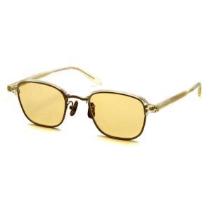 A.D.S.R. SWABY 06 スワビィ Clear Yellow / Antique Gold クリアイエロー/アンティークゴールド - イエローブラウンレンズ ブロー ライトカラーサングラス|props-tokyo