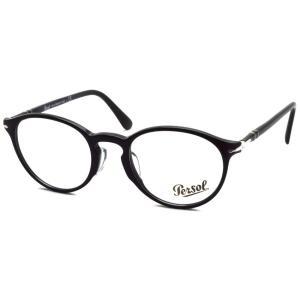 Persol ペルソール メガネフレーム 3174V アジアンフィット  95 ブラック 黒縁ボストン イタリア製 国内正規品|props-tokyo