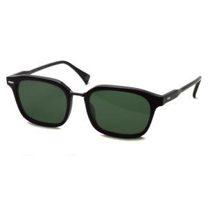RAENoptics レイン レーン BASTIEN Crystal Black / Polished Onyx - Green ブラック/ブラックメタル-ダークグリーン偏光レンズ スクエアウェリントンサングラス|props-tokyo