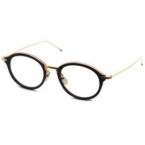 トムブラウン メガネ THOM BROWNE. TB-908 サイズ:46 Black-White Gold ブラック・ホワイト ゴールド 国内正規品【送料無料】|props-tokyo
