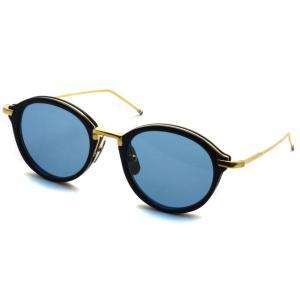 トムブラウン サングラス THOM BROWNE. TB-011 サイズ:49 Navy-Shiny 18K Gold-Dark Blue ネイビー・K18 ゴールド・ダークブルーレンズ 国内正規品【送料無料】|props-tokyo