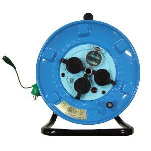 日動 防雨・防塵型電工ドラム/漏電しゃ断器付(過負荷・漏電保護兼用) 型式:NPW−EK33【30m】 屋外型 単相100V proshop-asahi