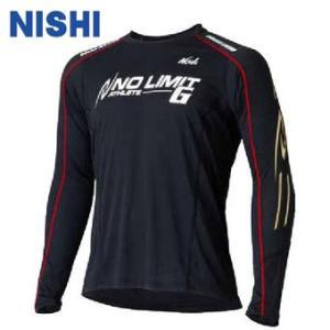 ニシ スポーツ 陸上ランニング長袖シャツ(メンズ) NO LIMIT G フィットロングスリーブシャツ (NLG62-004-07)2015FW|proshop-bd