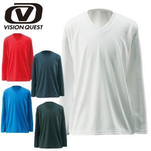 ■ジュニア■ ビジョンクエスト サッカー フットサルウェア(メンズ) 長袖 Vネック インナーシャツ (VQ540416E77)