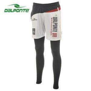 ダウポンチ(DalPonte)  サッカー フットサル プラパン(メンズ)  プラクティスパンツ&インナーセット  (DPZ0183-WHT/NVY)2016FW|proshop-bd