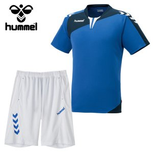 ジュニア ヒュンメル(hummel) サッカー フットサル 半袖プラクティスウェア上下セット プリアモーレスーツ (HJP1130SP-63)2017SS|proshop-bd