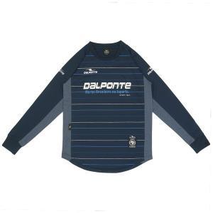 ダウポンチ(dalponte)サッカー 長袖Tシャツ(メンズ)長袖ストライププラクティスシャツ(DPZ0243-NVY)2018FW|proshop-bd