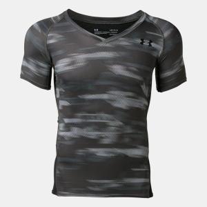 アンダーアーマー(UNDER ARMOUR)サッカー インナーシャツ(メンズ)UAヒートギアアーマーショートスリーブVネック(1331453-010)2019SS|proshop-bd