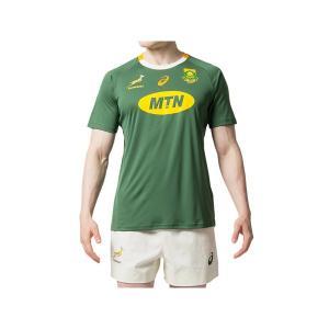 アシックス(asics)ラグビー  半袖 Tシャツ(メンズ)スプリングボクスホームファンショートスリーブトップ(2111A162-301)2019SS|proshop-bd
