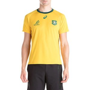 アシックス(asics)ラグビーウェア 半袖 Tシャツ(メンズ)ワラビーズホームファンショートスリーブトップ(2111A172-750)2019SS|proshop-bd