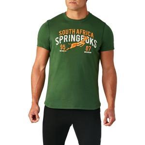 アシックス(asics)ラグビーウェア 半袖 Tシャツ(メンズ)スプリングボクスグラフィックショートスリーブトップ(2113A061-300)2019SS|proshop-bd
