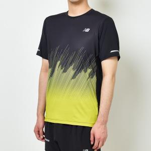 d3d70e7b5fd1d ニューバランス(New Balance)陸上ランニング 半袖 シャツ(メンズ) NB Hanzo ICE プリントショートスリーブ Tシャツ( AMT81201-SYR)2019FW