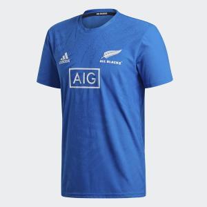 アディダス(adidas)ラグビー 半袖 Tシャツ(メンズ)オールブラックス RWC パフォーマンス...