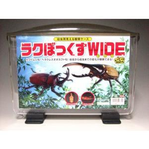 幼虫用見える観察ケース ラクぼっくすWIDEワイド|proshop-kabuto